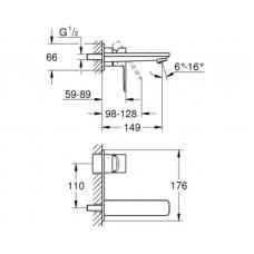 Смеситель для раковины Grohe Lineare 19409001