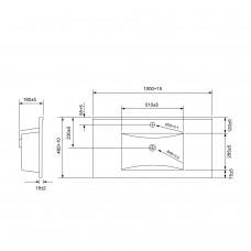 Мебельный умывальник 100см Volle 13-01-042F