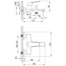 BARKA cмеситель для ванны, хром, IMPRESE 10265