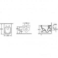 ARCHITECTURA унитаз подвесной 37*53см, DirectFlush, с сидением с функцией Slow closing 5684HR01