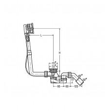 Сифон Viega Multiplex Trio подача воды через перелив, 560мм (679187)